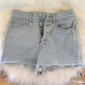BDG high waisted jean shorts